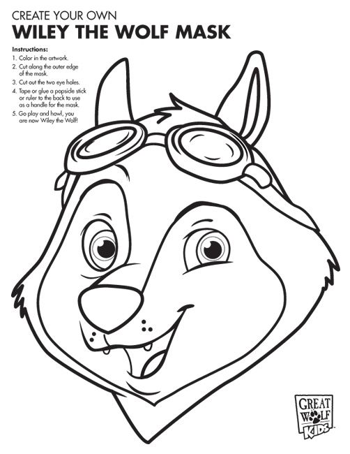 Print out these free coloring pages and bring them on family trips to great wolf lodge keep kids busy in the car and excited for their vacation