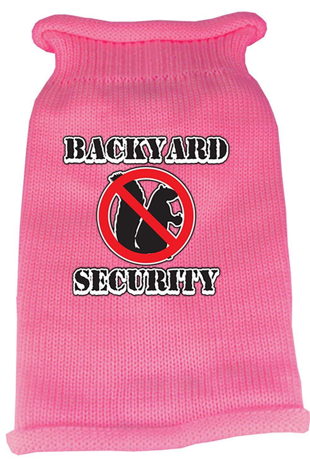 Back Yard Security Screen Print Knit Pet Sweater Pet