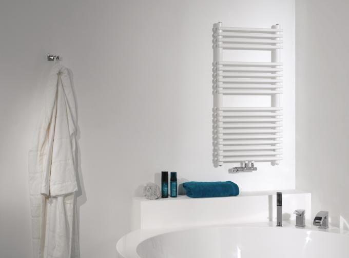 Handdoekradiator wit allegria de vipera deze handdoekradiator