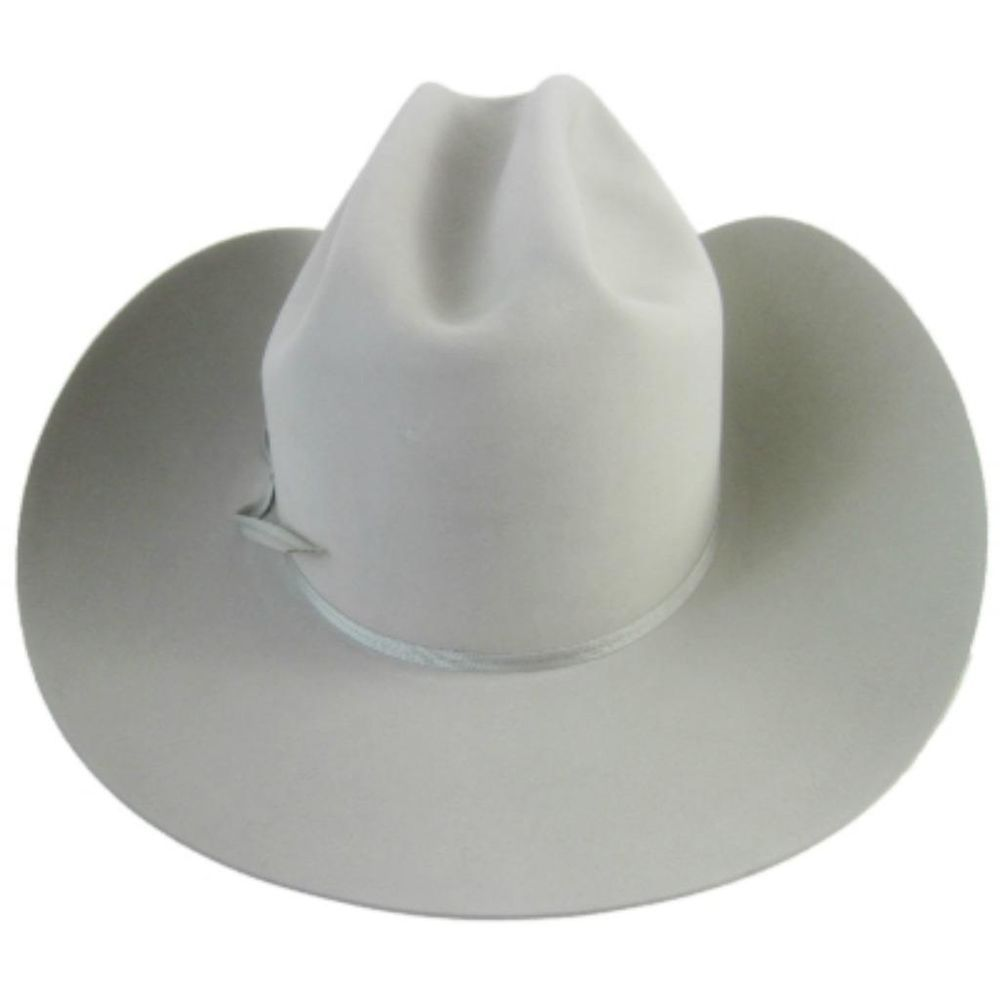 cdfb9f10db5  Resistol Platinum Beaver 65 Cowboy Western Hat is beautiful Silverbelly  color