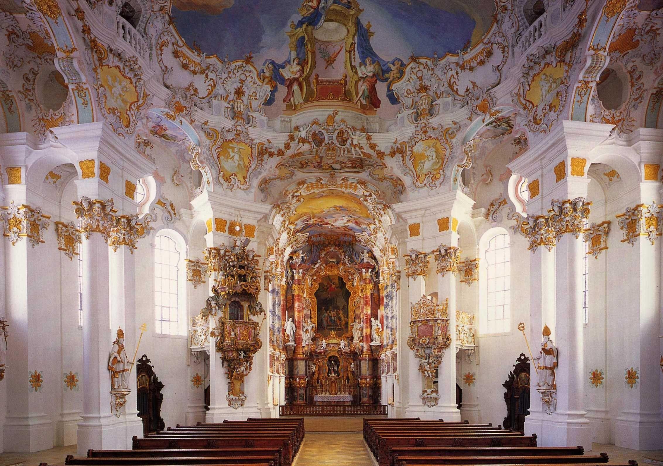 wieskirche altar kirche church pinterest barock