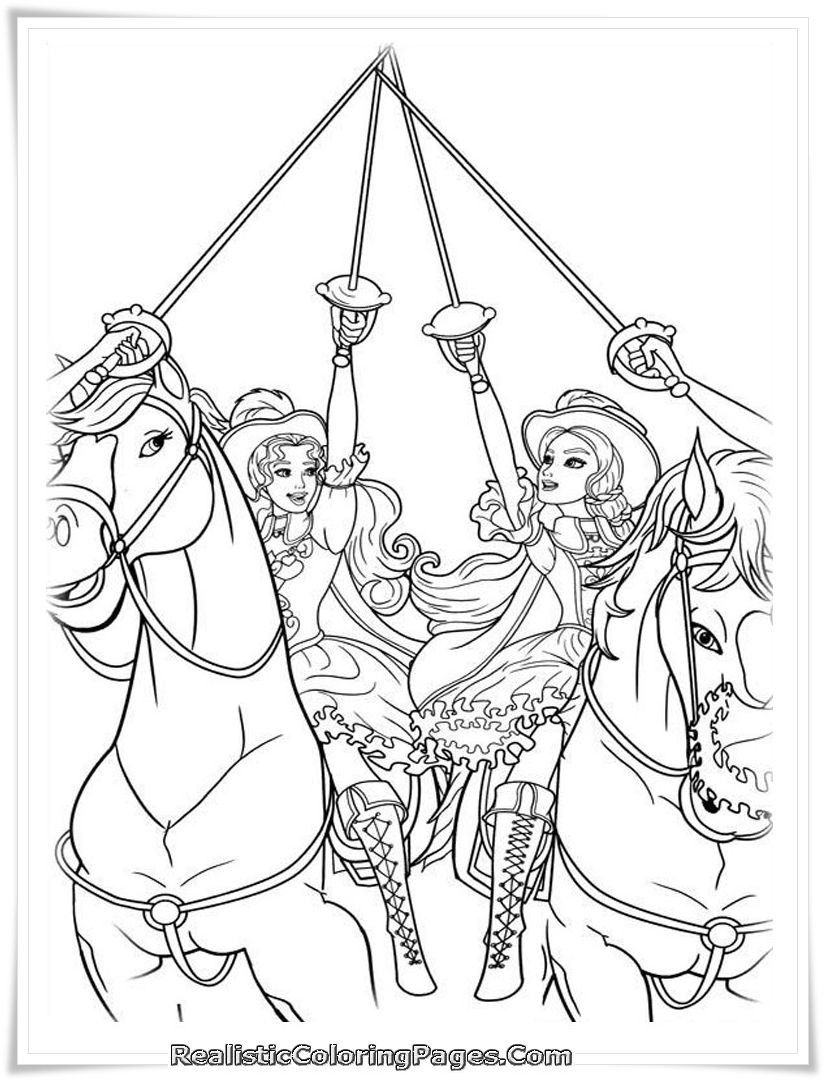 Barbie and the three musketeers coloring pages through the thousands of images on the net regarding barbie and the three musketeers coloring pages