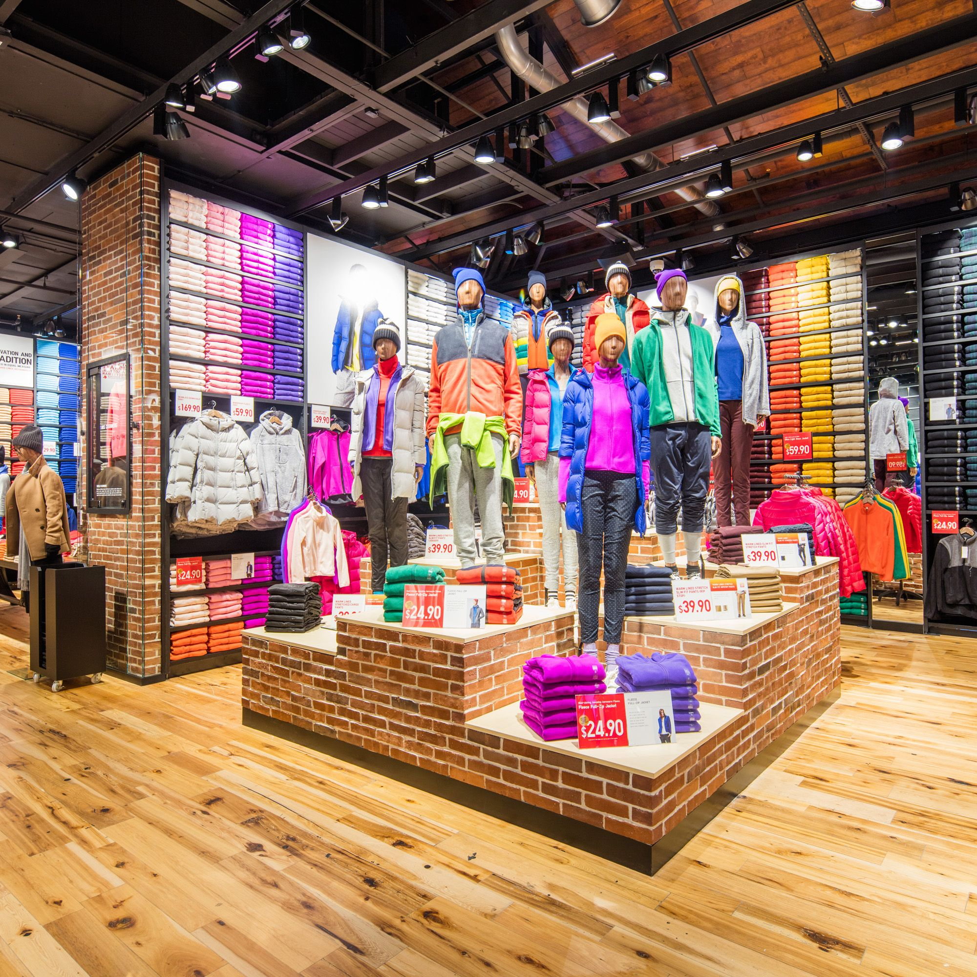 Retail Store Diplays: Bespoke Mannequins Developed For Uniqlo, Here In A Wooden