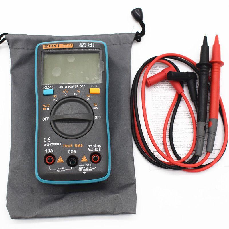 Zt102 Digital Multimeter Dc Ac Voltage Current Resistance Diode Capacitance Temperature Tester Automatic Polarity Identific Diode Multimeter Transitional Decor