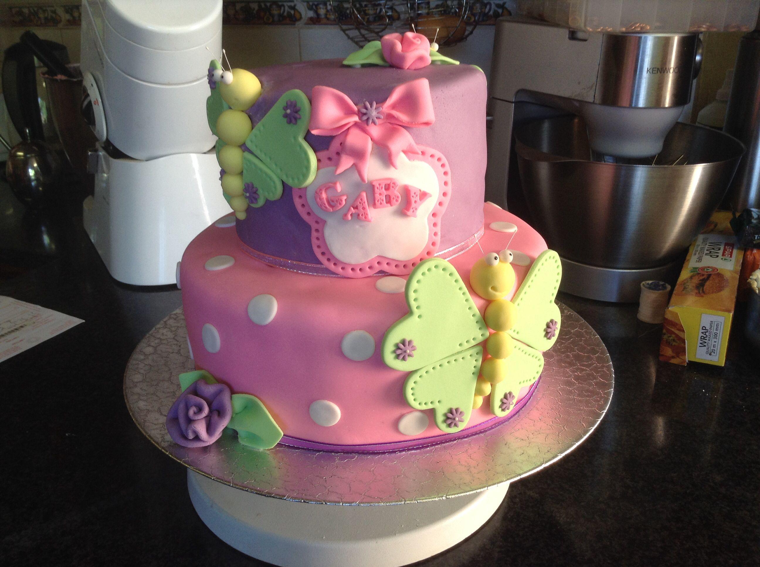 2nd Birthday Butterfly Cake Vanilla Butter Cake With Tutti Frutti