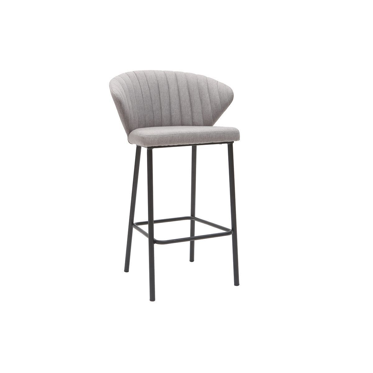 gris en 65 Tabouret tissu DALLY bar de cm 2019 design vOynN8wm0P