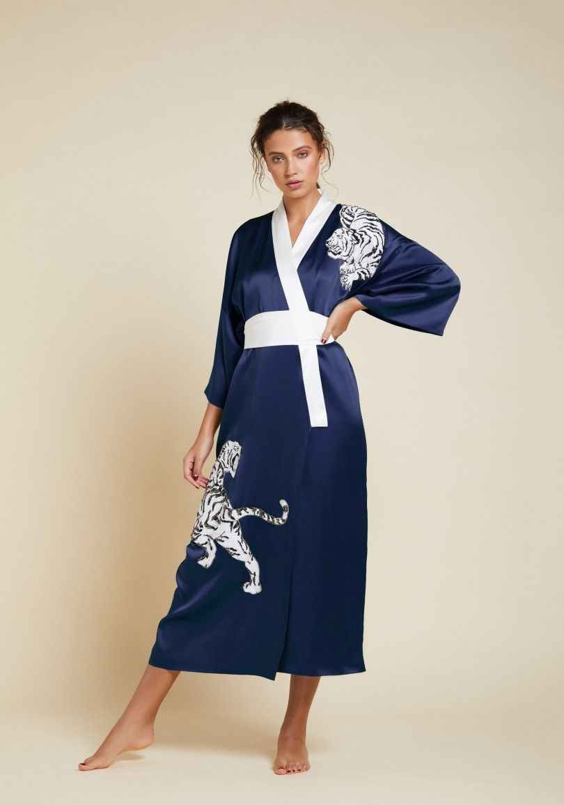 8e22eee973f Luxury Full Length Kimono with Tiger Embroidery