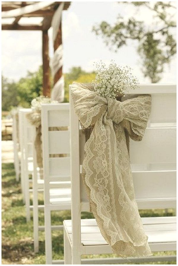 40 hessian wedding ideas hessian and lace chair bahs in