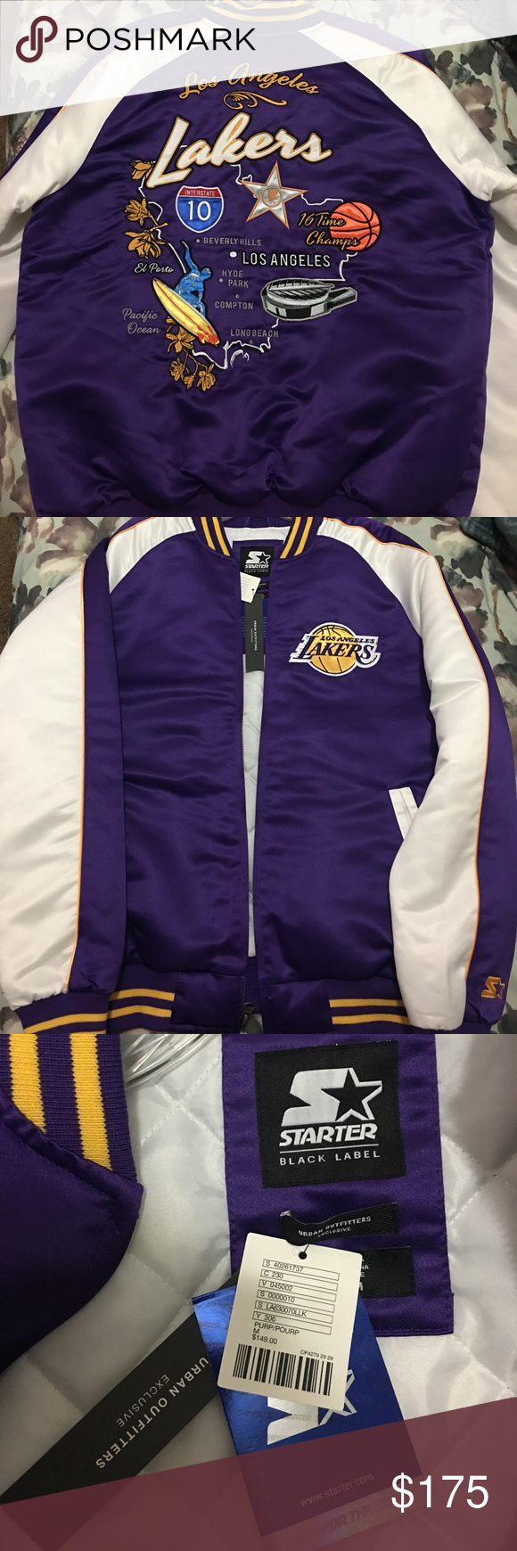 La Lakers Starter Jacket From Urban Outfitters Starter Brand Los Angeles Lakers Team Jacket Exclusively From Urba Urban Outfitters Jacket Jackets Team Jackets