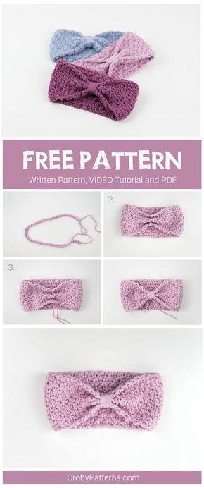 FREE PATTERN: Super Easy Crochet Headband – Croby Patterns #knitheadbandpattern