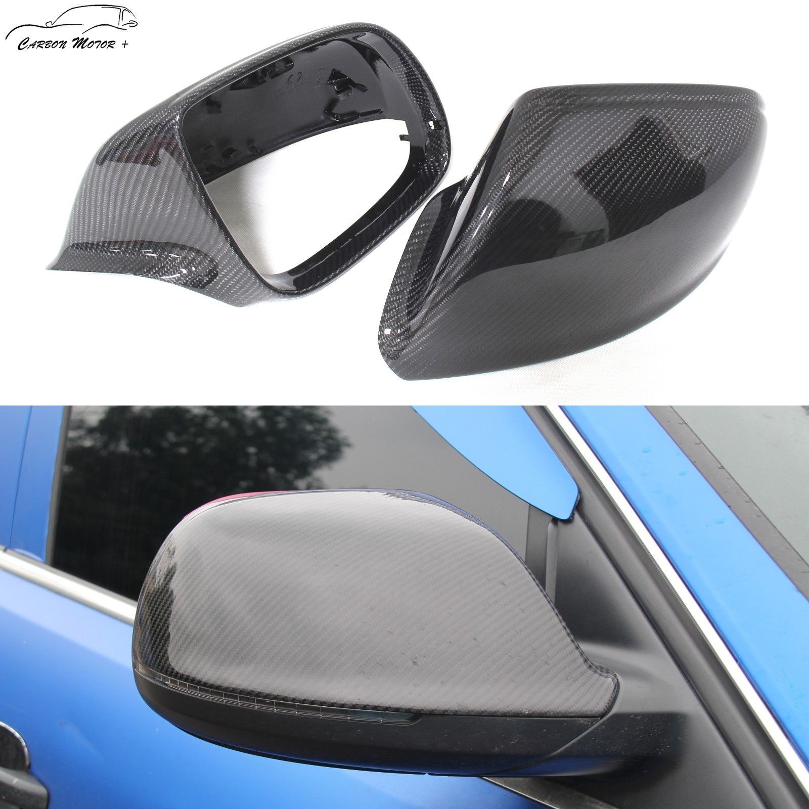 Replacement Carbon Fiber Mirror Cover for Audi Q5 Q7 SQ5 without