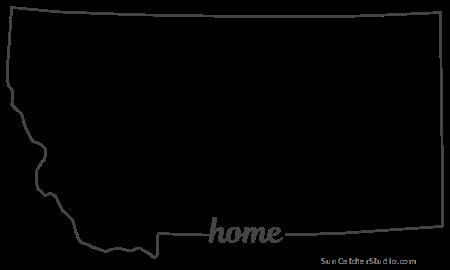 Montana Map Outline Printable State Shape Stencil Pattern Map Outline Pattern Machine Embroidery Applique