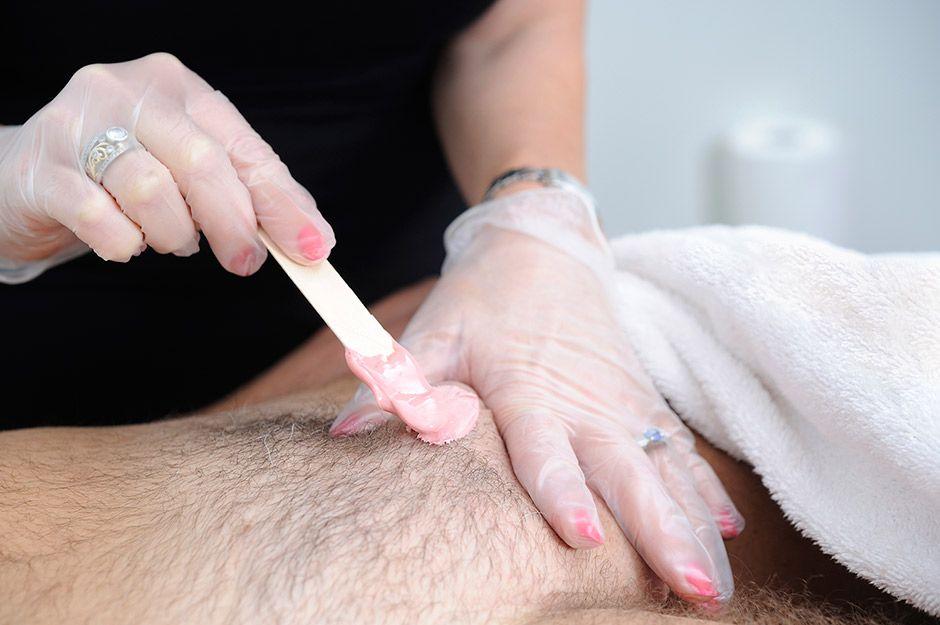 Swinging and genital waxing
