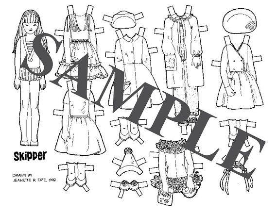 Paper Doll _ Barbie's SKIPPER & FRIENDS Dolls _ Digital
