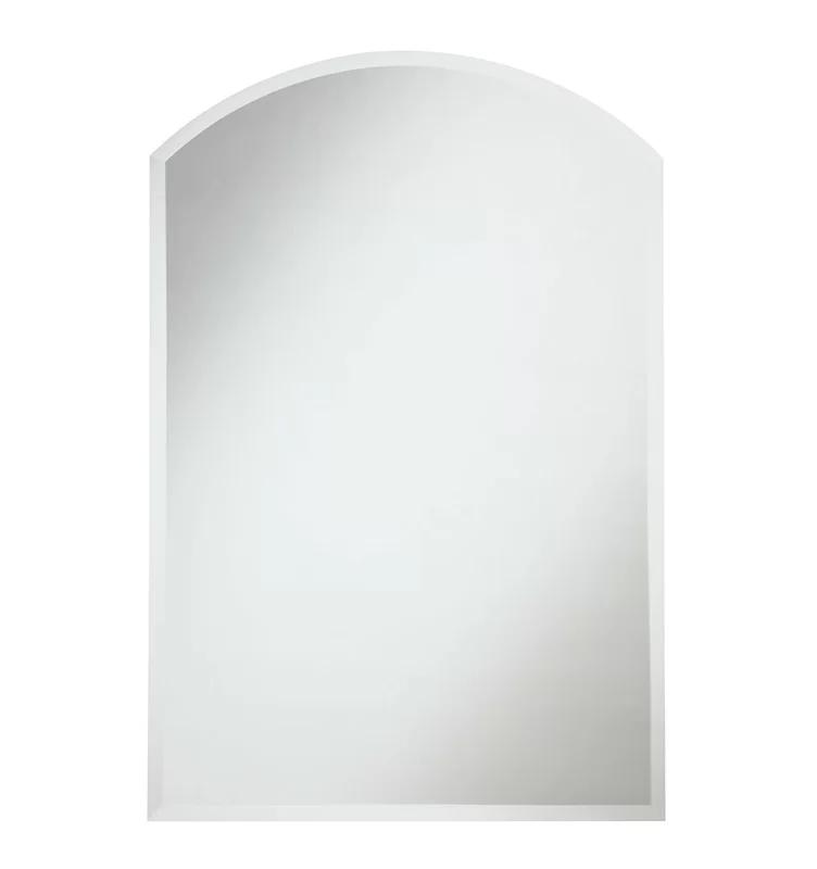 Abancourt Modern Contemporary Beveled Frameless Wall Mirror