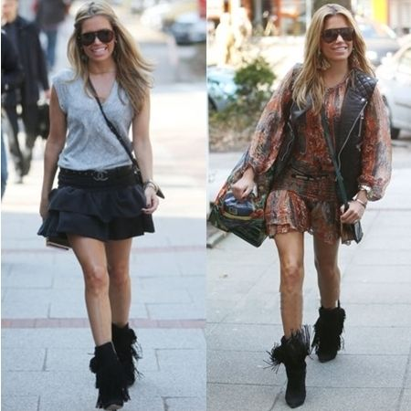 2 fabulous outfits sylvie van der vaart wore with fringe