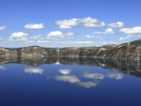 Crater Lake Reflections, Crater Lake National Park, Oregon, USA Photographic Print by Michel Hersen | Art.com