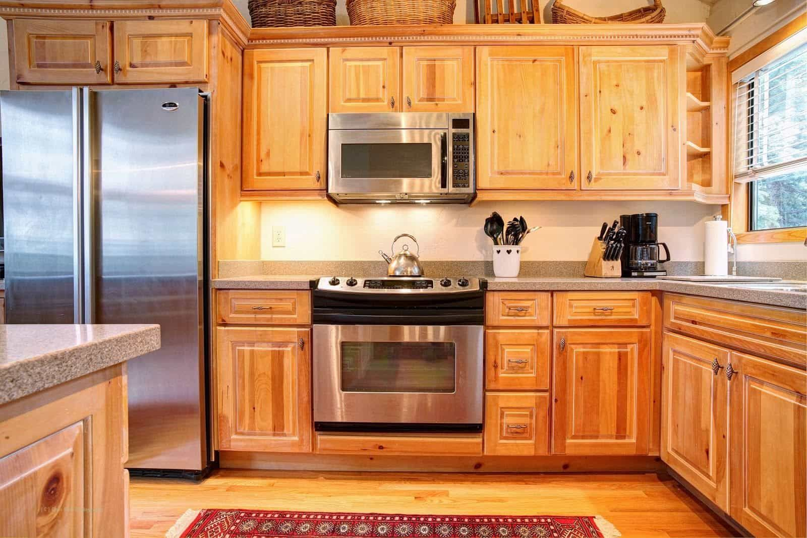 Durable Pine Kitchen Cabinets | Pine kitchen, Pine kitchen ...