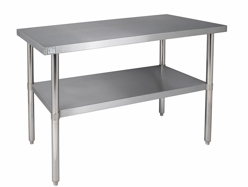 commercial kitchen stainless steel tables stainless work tablescommercial prep tablesrestaurant work collection. beautiful ideas. Home Design Ideas
