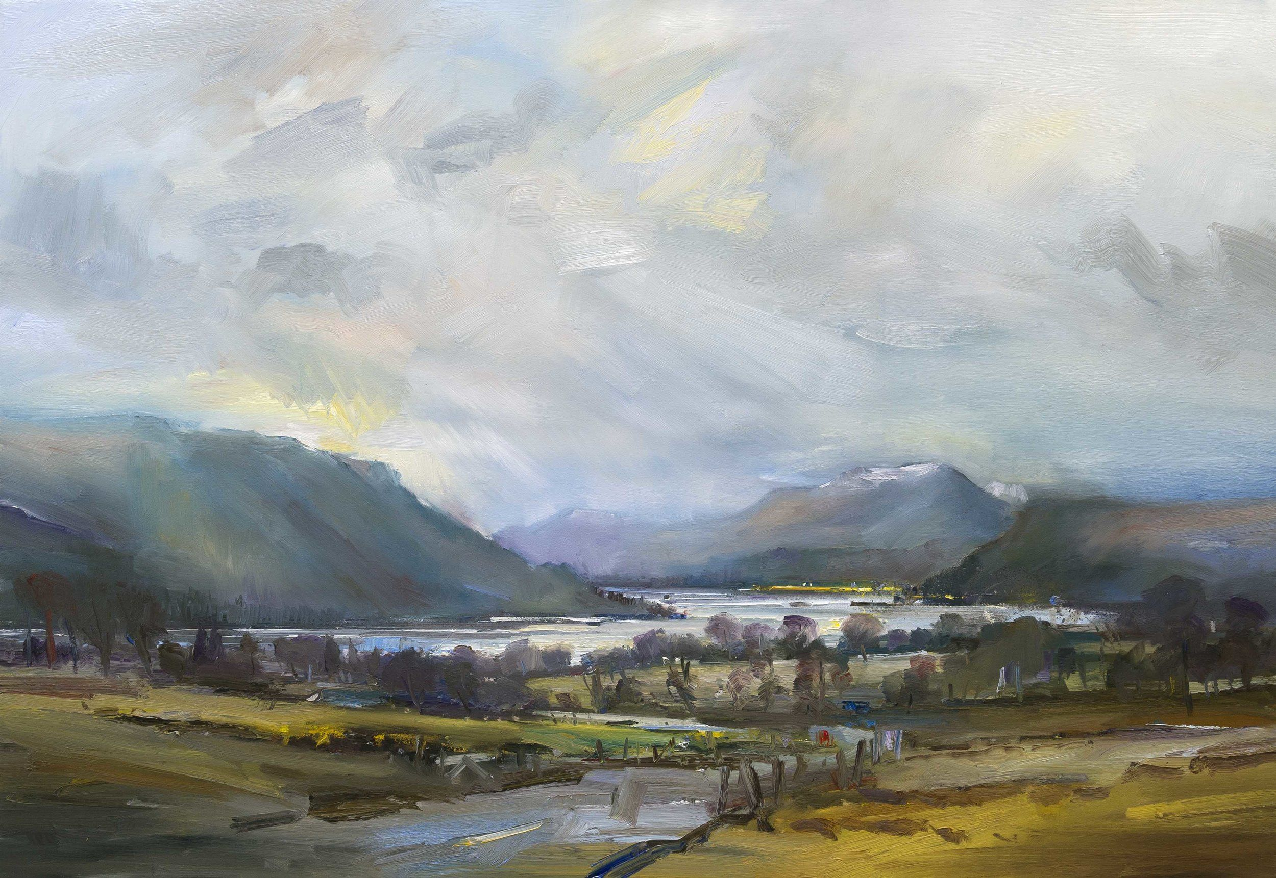The Road To Ullswater Lake District 90x130cm Oil On Canvas Landscape Art Lake District Painting