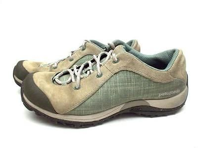 09e6fe173ea PATAGONIA Womens Lace Up Vibram Sole Hiking Shoes Leather Bly Hemp ...