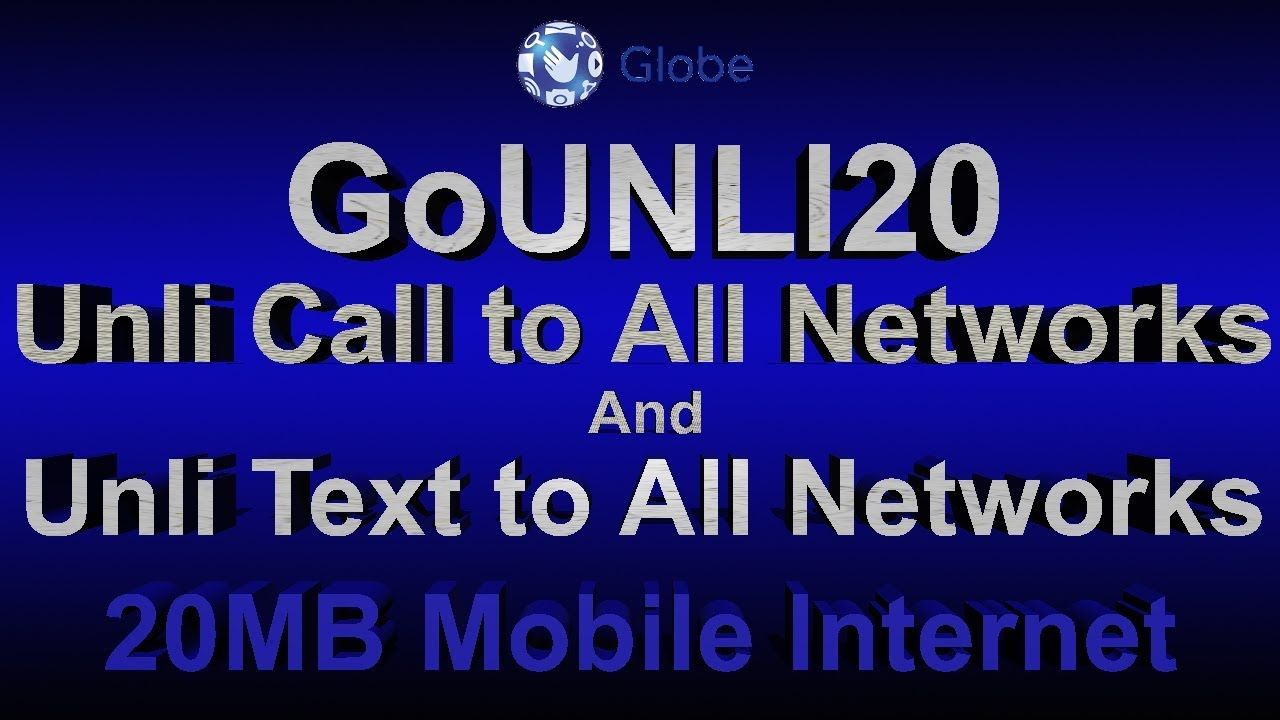How To Register Gounli20 Using Mobile Phone Globe Prepaid Promo Phil Mobile Phone Phone Youtube Playlist
