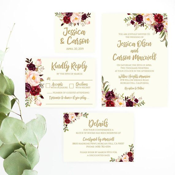 Cheap Print Your Own Wedding Invitations: Wedding Invitations With RSVP Packages, Wedding