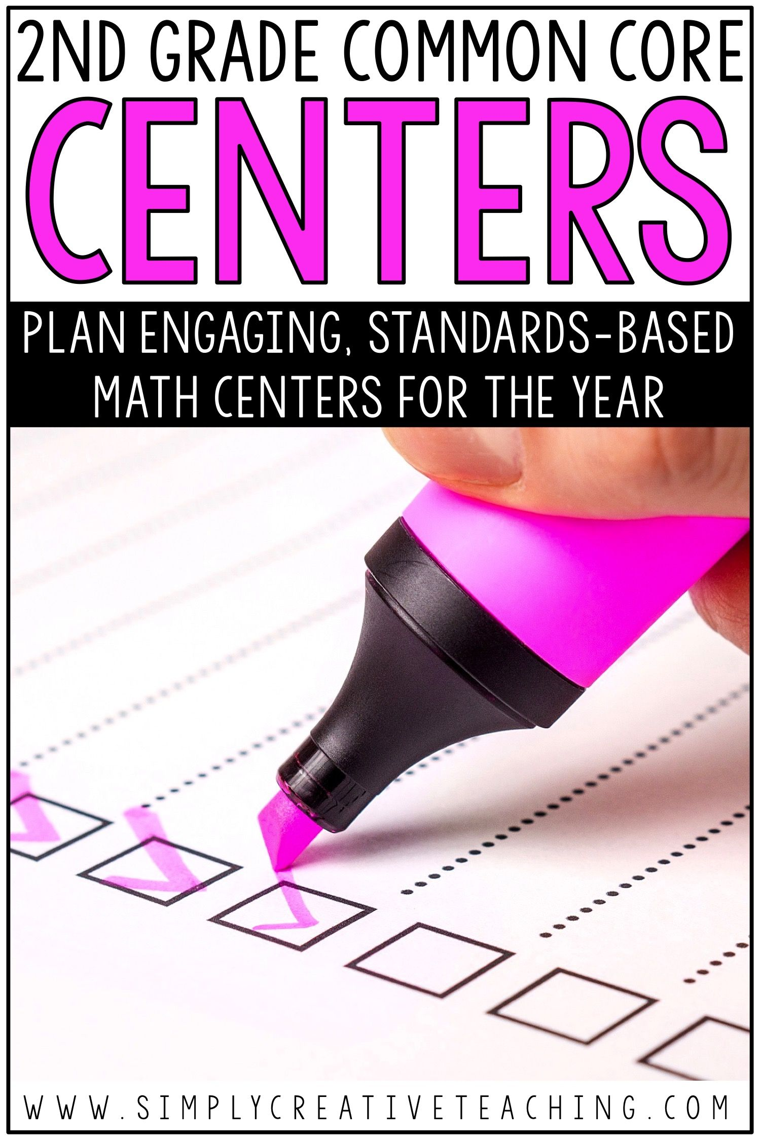 2nd Grade Math Centers For Common Core