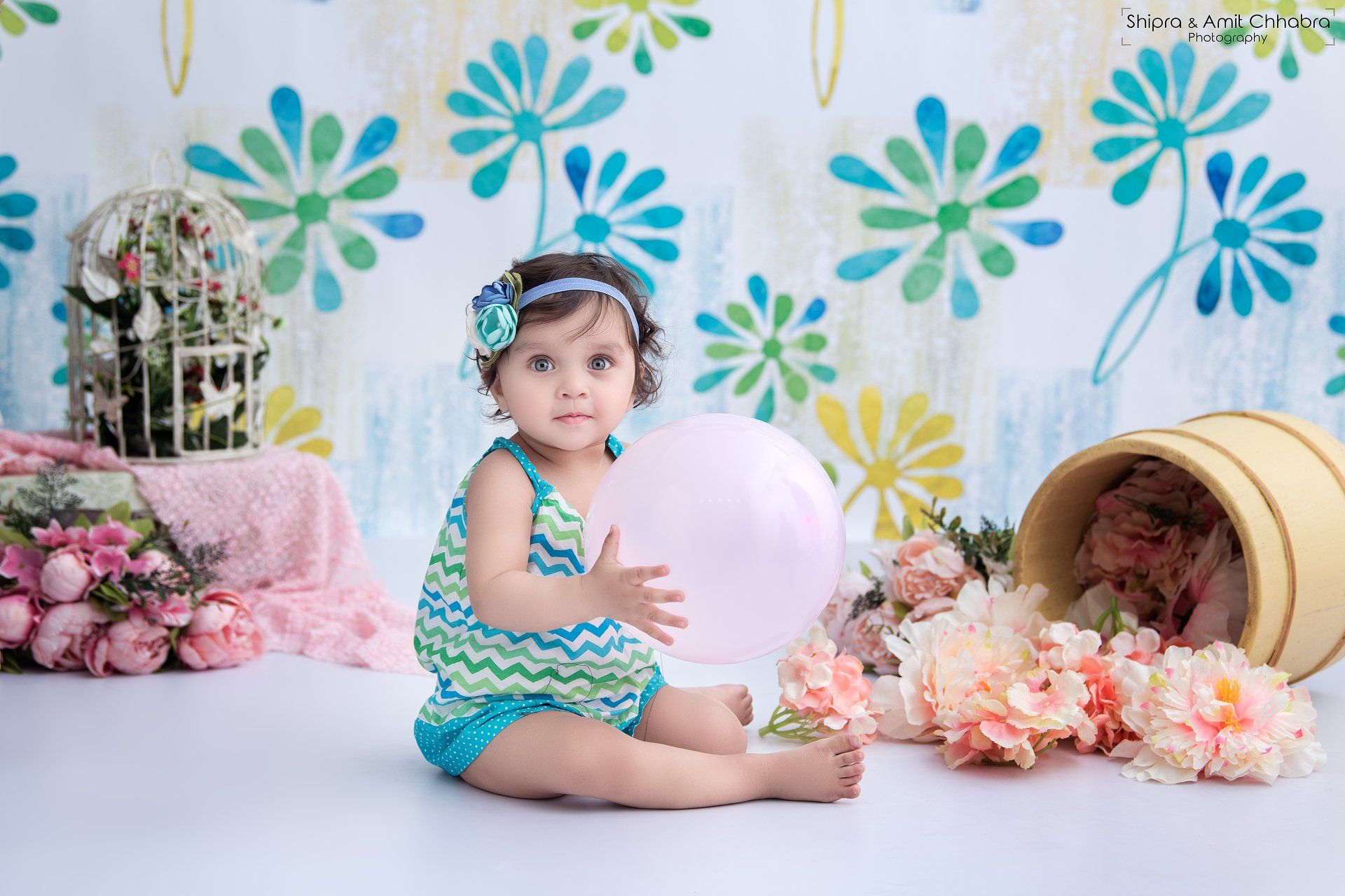 Baby photoshoot infant photography ideas indoor shoots for kids floral set up ideas baby photography shipra amit chhabra photography