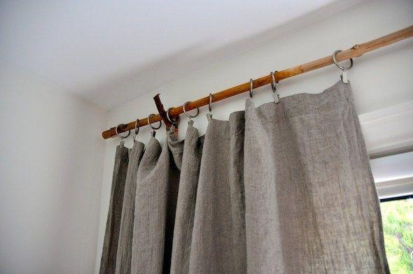 Tree Branch Curtain Rod 15 Diy Tutorials Guide Patterns Diy