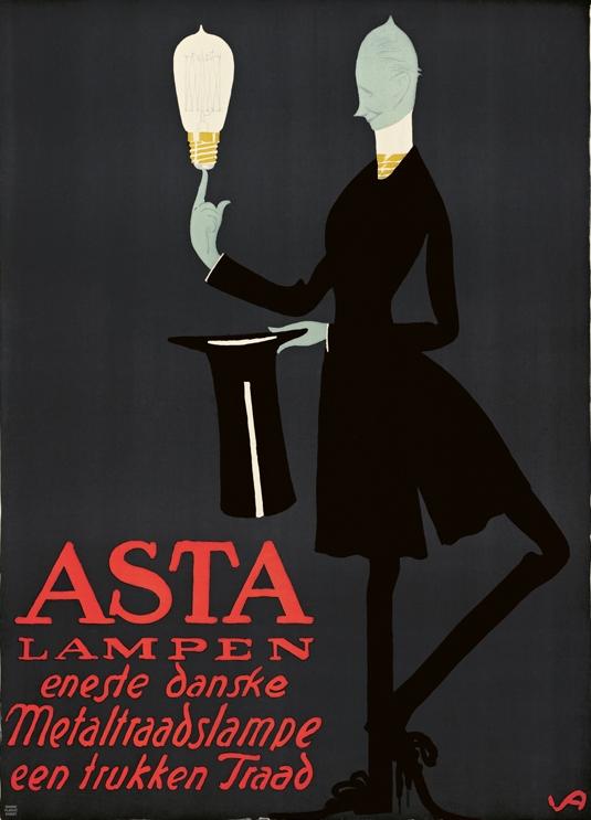By Valdemar Andersen, 1912, Asta Lampen. (Danish)
