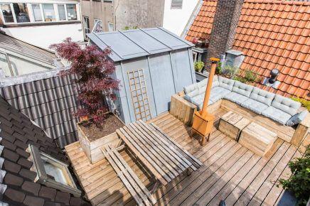 Groot dakterras van 30m2 in Amsterdam   Inrichting-huis.com