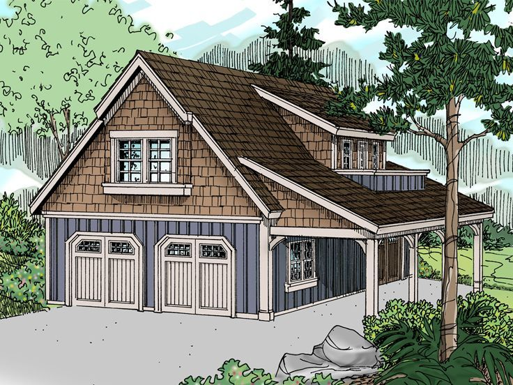 051g 0056 Craftsman Garage Plan With Flexible Loft And Hobby Room Carriage House Plans Craftsman House Plans Craftsman Style House Plans