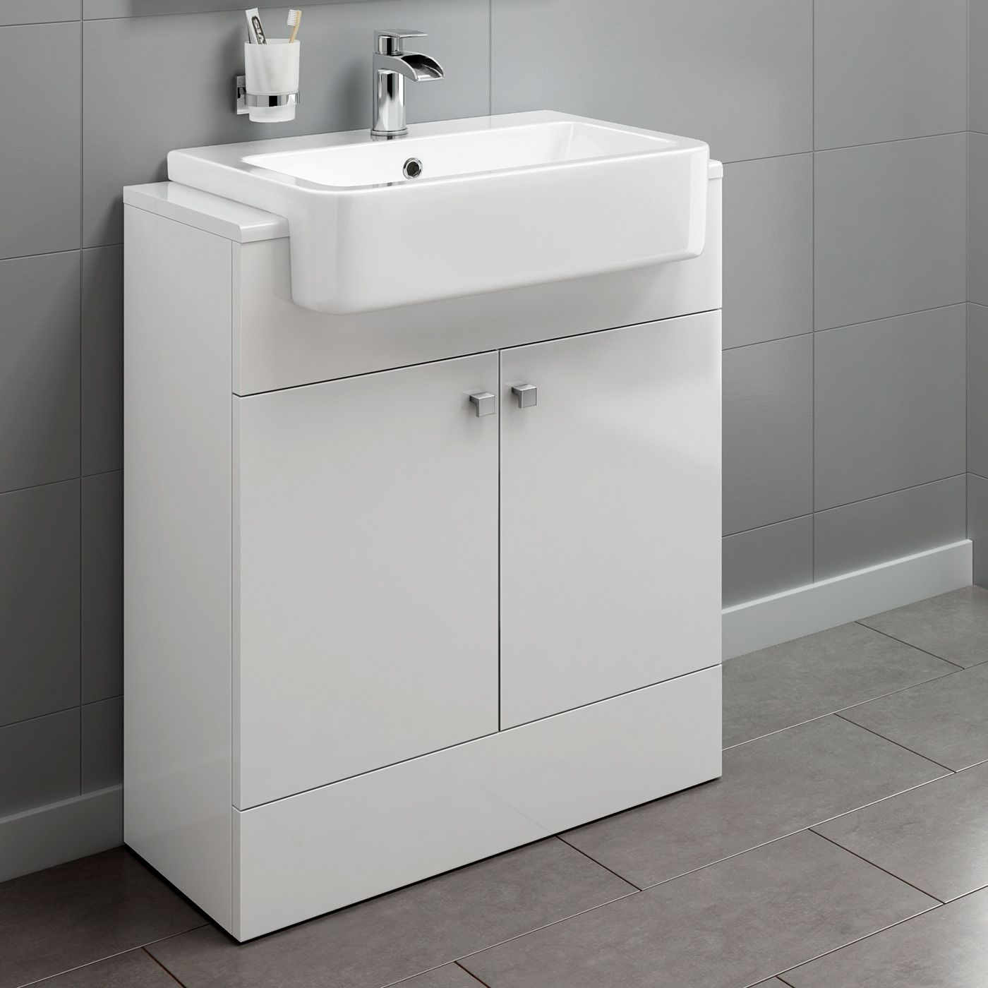 660mm Harper Gloss White Floor Standing Basin Vanity Unit Soak Com Bathroom Sink Vanity Units Bathroom Furniture Storage Sink Vanity Unit