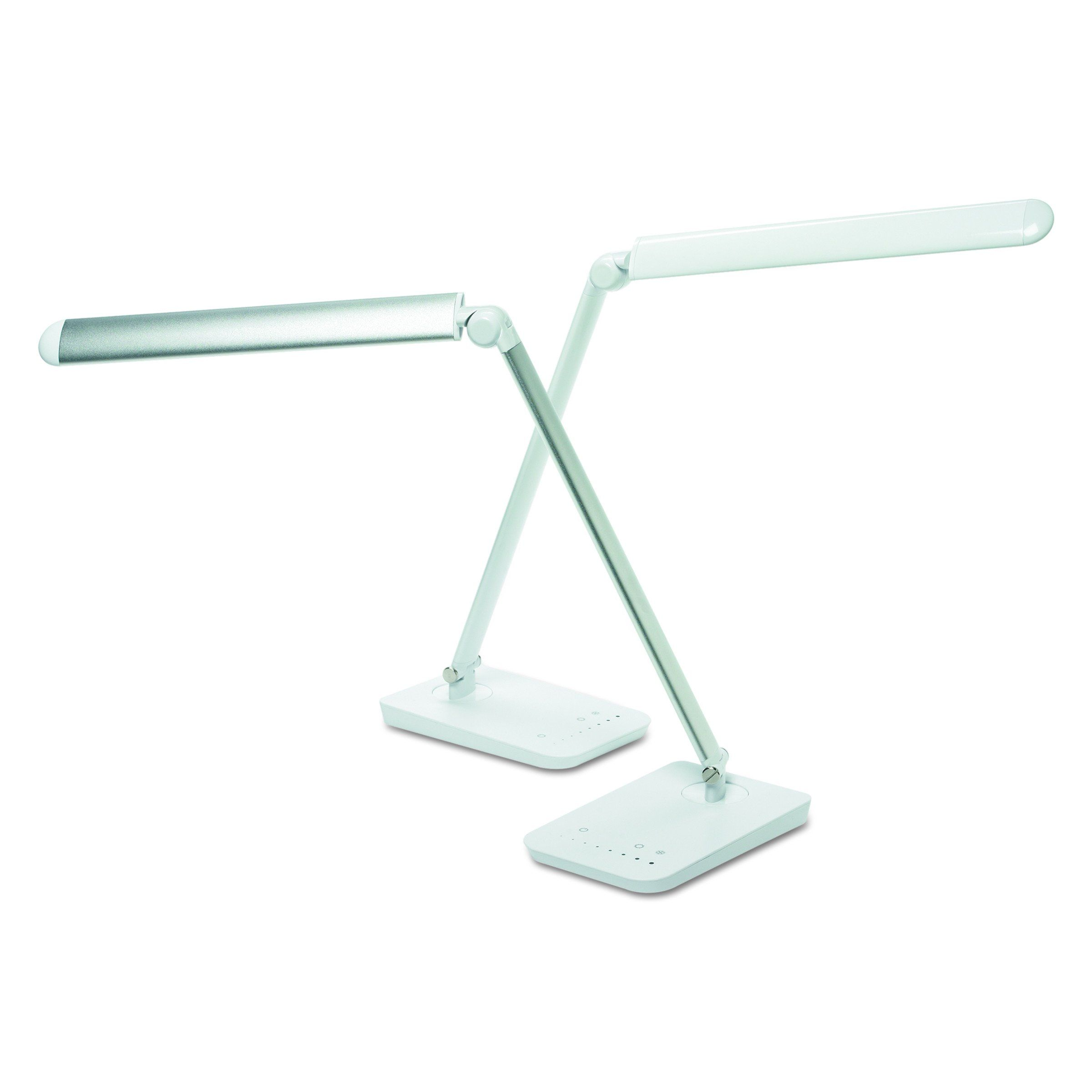 Safco Products 1001wh Vamp Led Modern Abs Desk Lamp With Usb Port