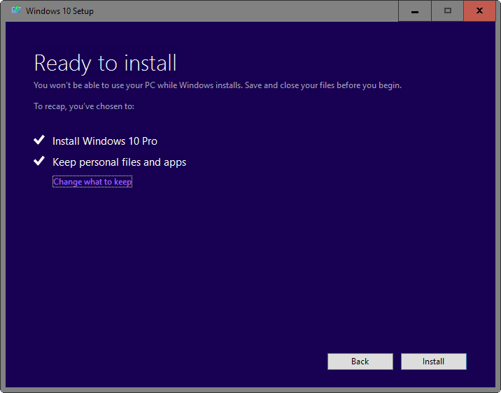 ready install keep windos Using windows 10, Windows 10
