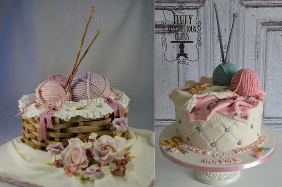 Knitting Cakes Images : Knitting cakes for crafters by eat cake party left truly