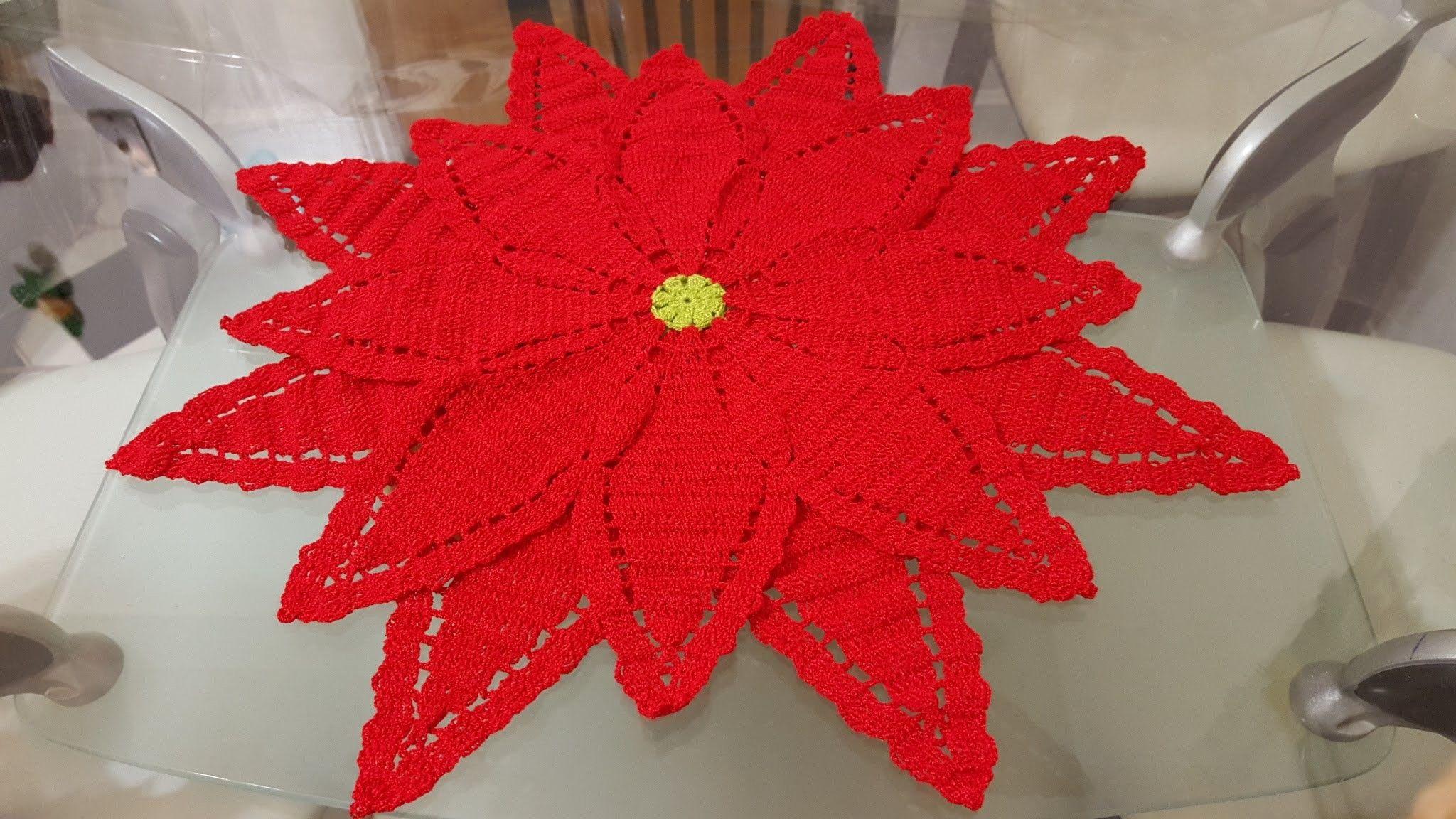 1 | Flor de croche | Pinterest | Flor de nochebuena, Nochebuena y ...