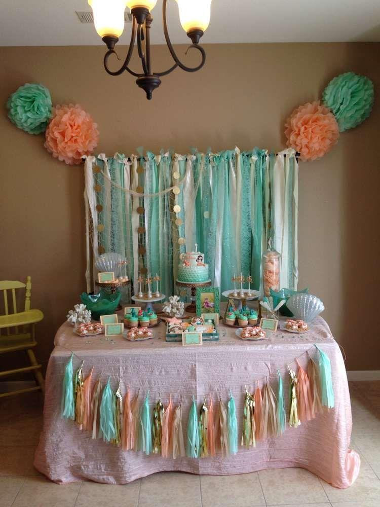 Under the Sea/ Mermaid Birthday Party Ideas Mermaid