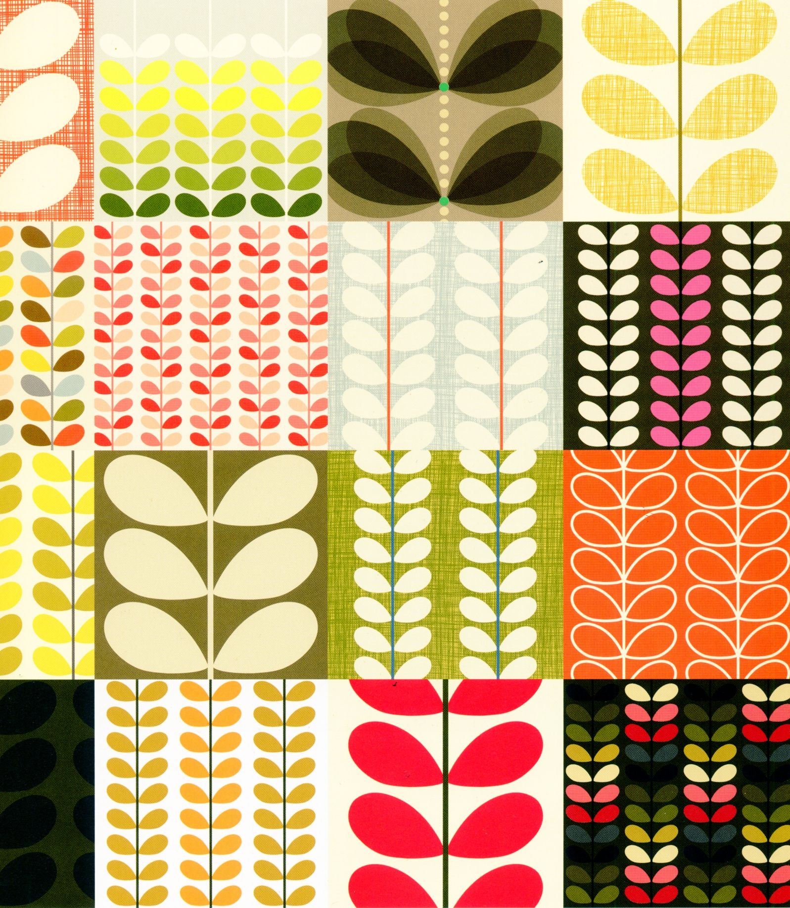 Papier Peint Orla Kiely From The Orla Kiely Book Patterns Love The Colour Choices For