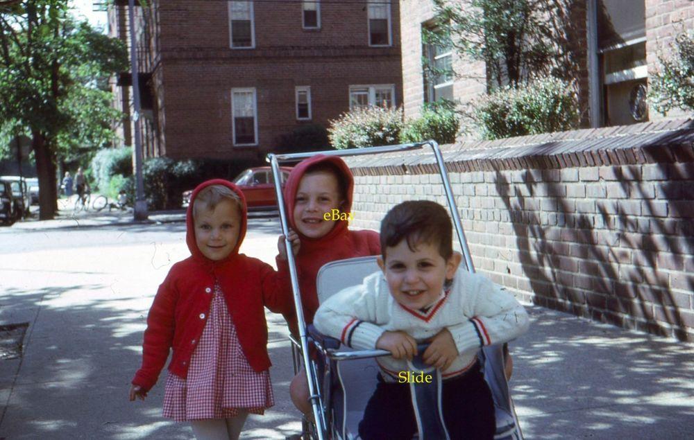 35mm Slide Stroller Children New York City Street Scene Kodak Kodachrome 1965