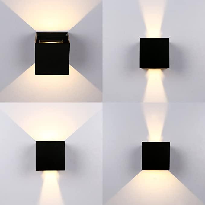 Topmo Plus 7w Appliques Murales Led Interieur Exterieur Reglable Eclairage Aluminium Lumieres De La Nuit En 2020 Eclairage Mural Applique Exterieur Applique Murale Led