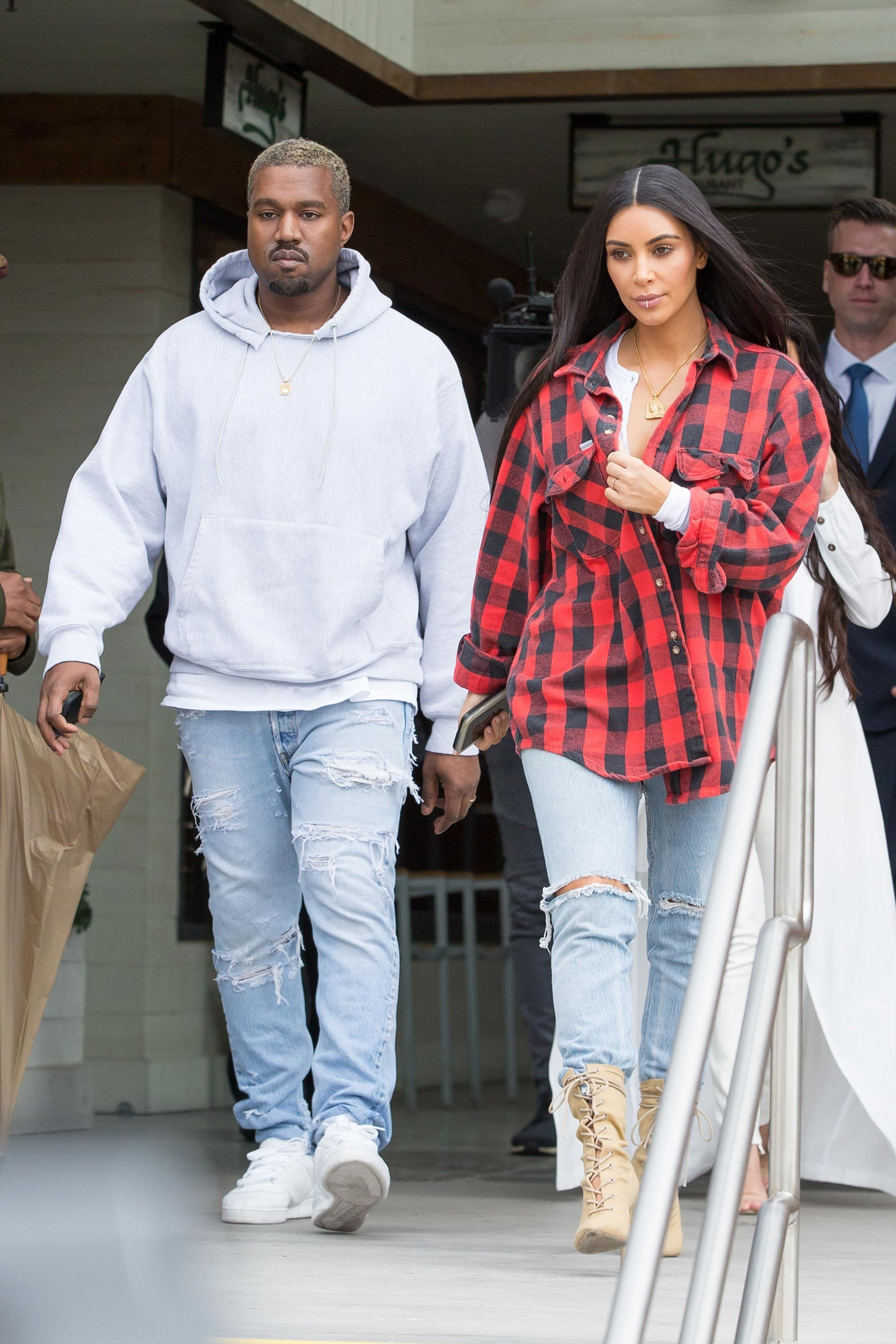Kim Kardashian West And Kanye West Are Clearly Closer Than Ever Judging By Their Style Kanye West Style Kim Kardashian Kanye West Kim Kardashian Style