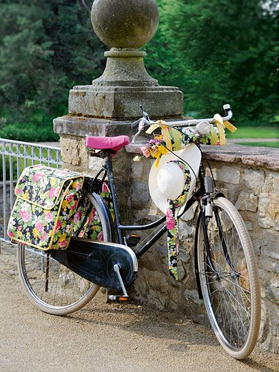 .the panniers are lovely, but I'd probably only pick the print in one place.