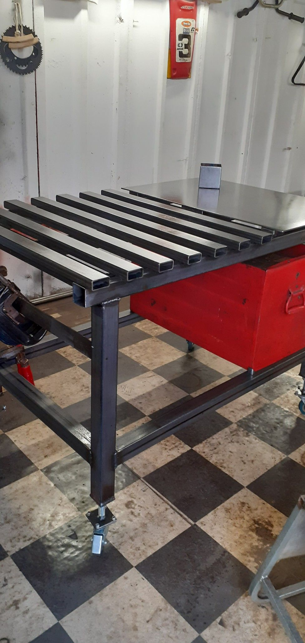 Pin on welding table plans ideas diy welding table top