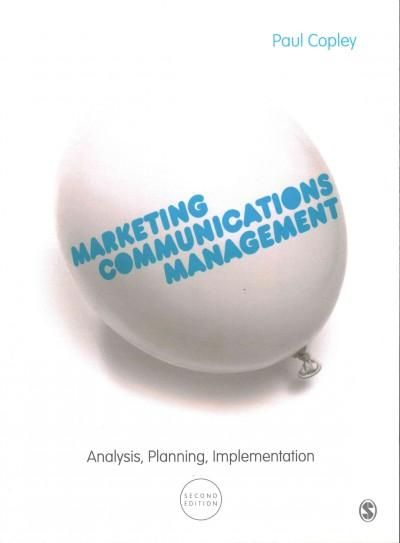 Marketing Communications Management Analysis Planning