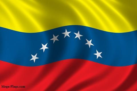 This Is The Flag Of Venezuela It Has The Stripe Colors Of Yellow Blue And Red On The Blue Stripe There Are Seven St Venezuela Flag Flags Of The World Flag