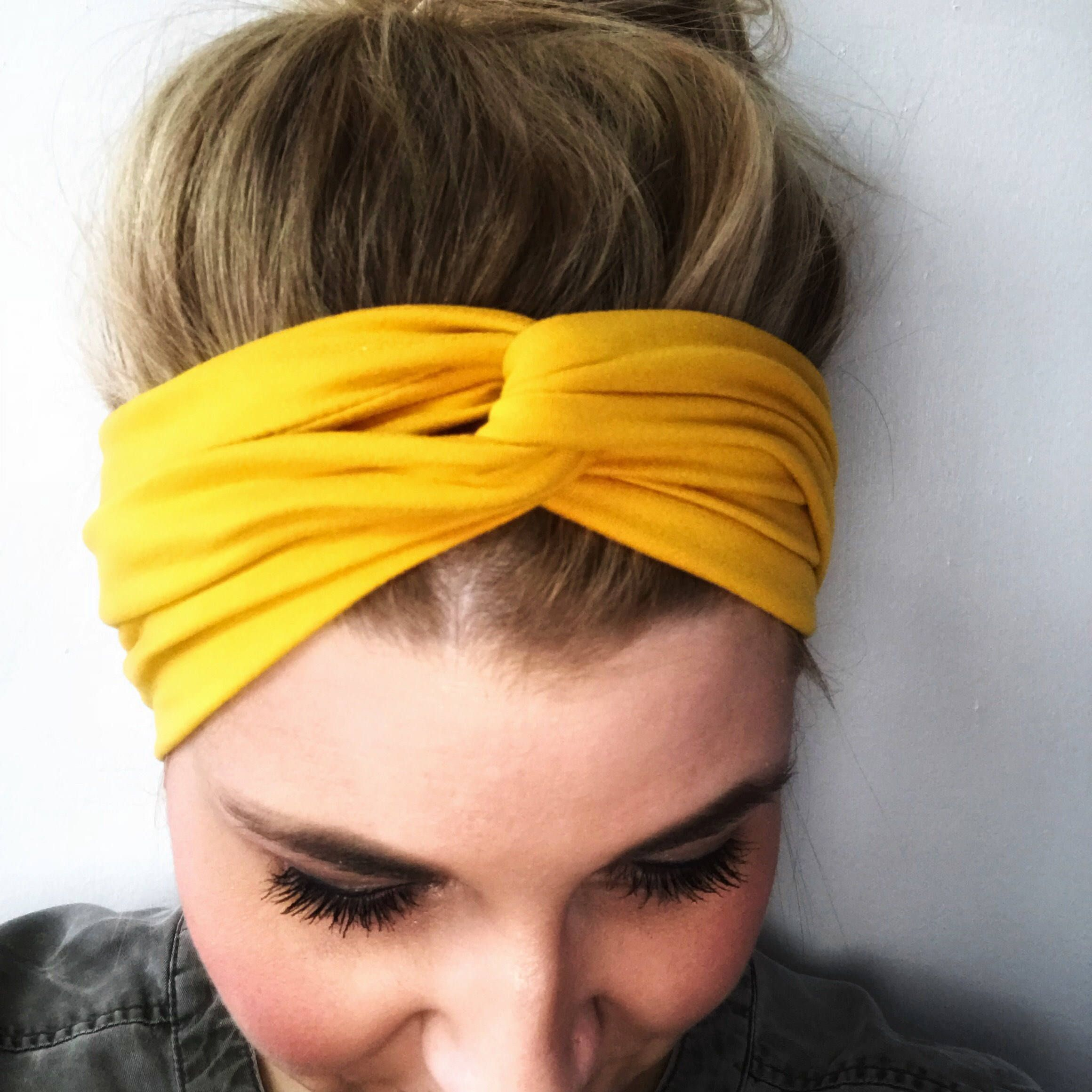 Mustard Headband - Mustard Turban - Boho Headband - Knot Headband Women -  Headbands for women - knot headband adult - mustard yellow turban cee9ab6ada3