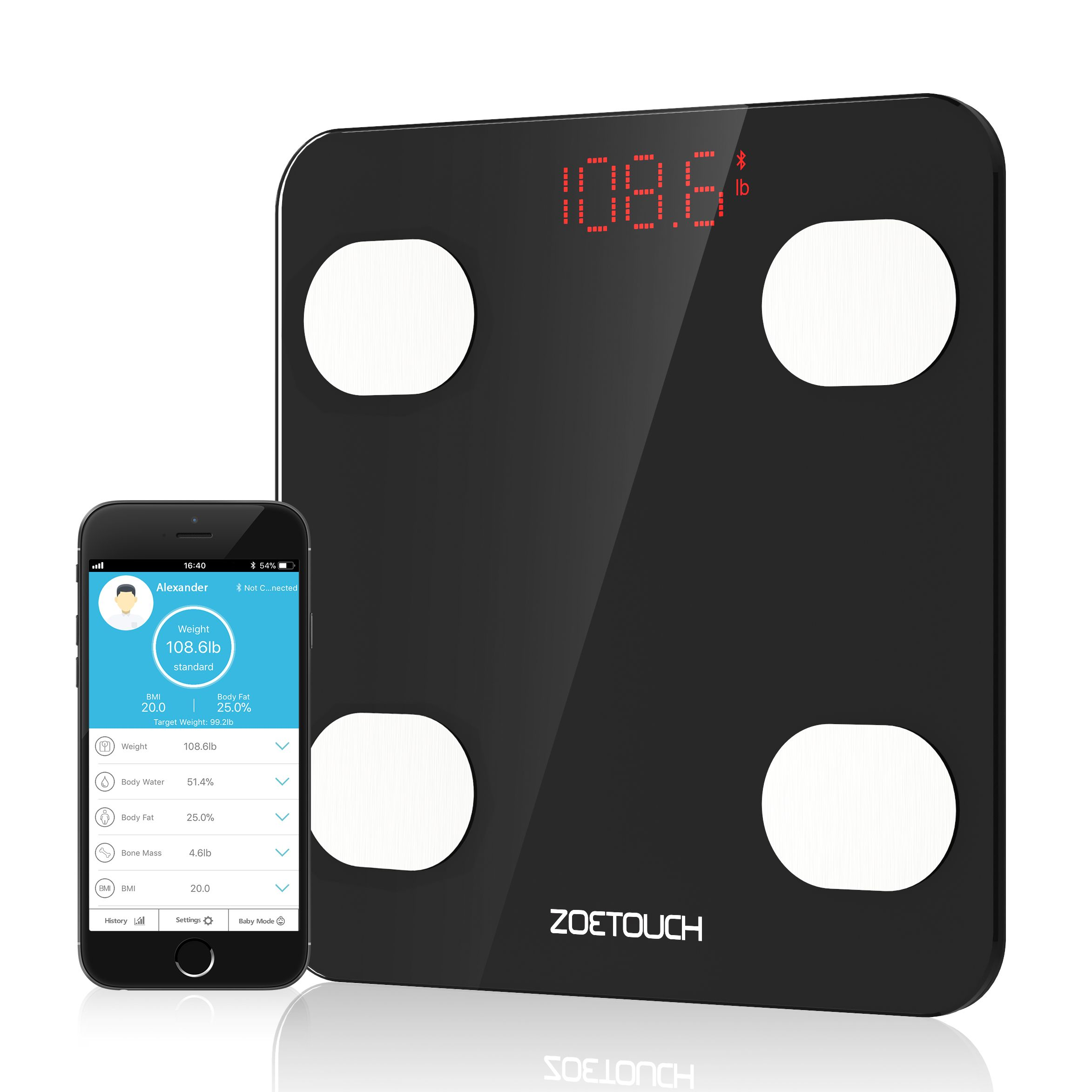 Sync with Fitness App ZOETOUCH App( FREE download in