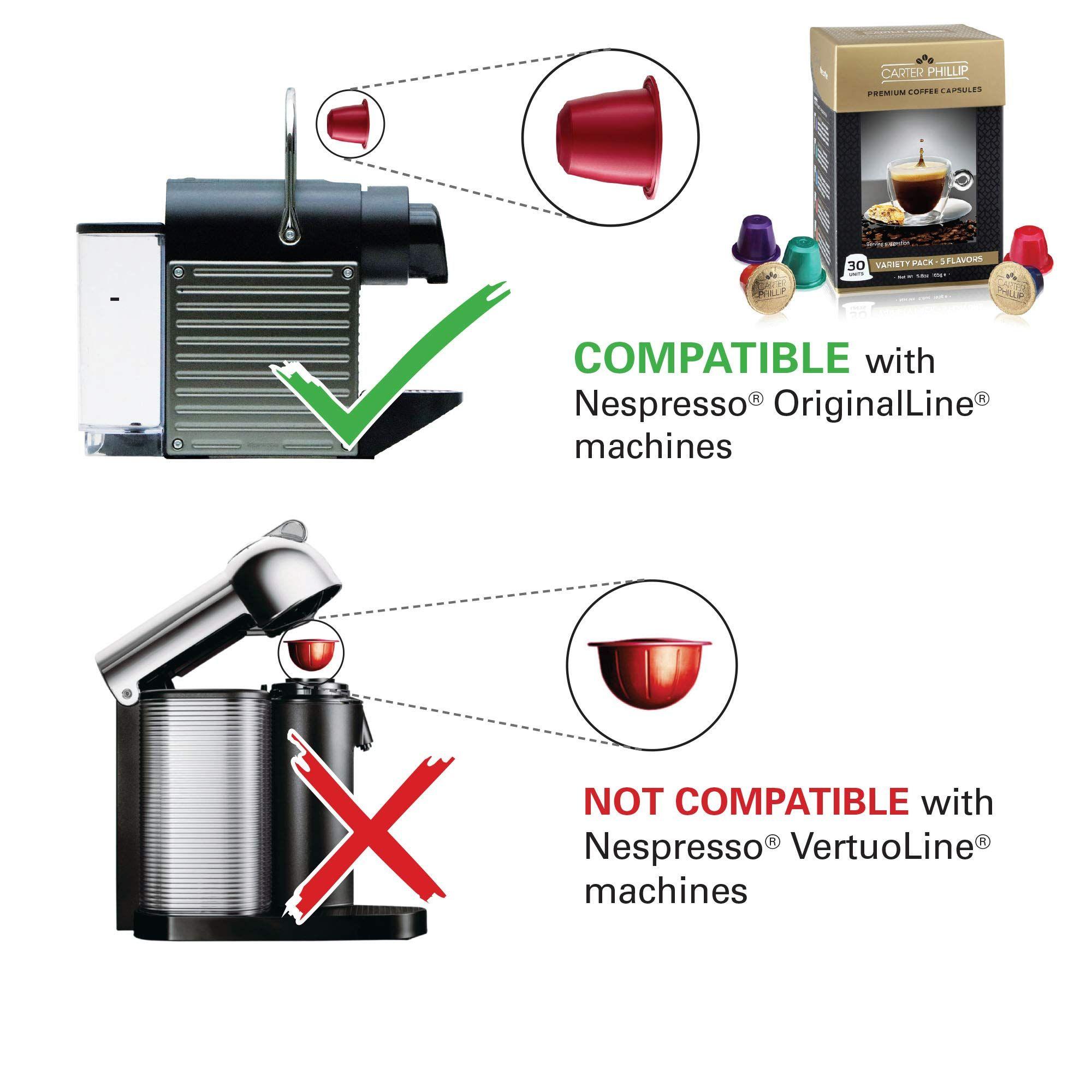 Espresso capsules compatible with nespresso originalline